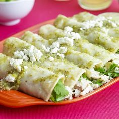 "Authentic Enchiladas Verde | ""These enchiladas are made with a fresh green salsa, just like you would find in a Mexican restaurant or better yet, in a Mexican home."""