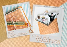 delia creates: Orange: DIY Stationary & A Snail Mail Vacation. LOVE the idea of a snail mail vacation, especially because we have lots of family members out of town! Great fun :)