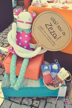 Zeza Zezling! doll at a local craft market. #speechballon rocked!