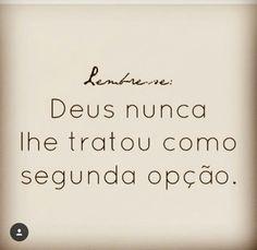 #segundaopção #Deus