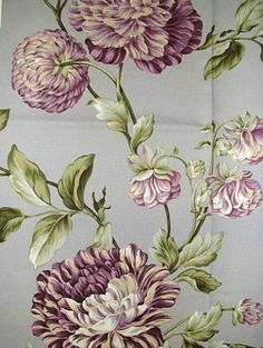 """Charlotte Smoke.  Waverly Fabric 100% cotton up the roll 25"""" repeat Williamsburg Floral print. 673401 54"""" wide."""