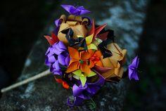 Paper origami bouquet