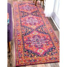 """Bungalow Rose Barksdale Blooming Multi-Colored Area Rug Rug Size: Runner 2'8"""" x 8'"""