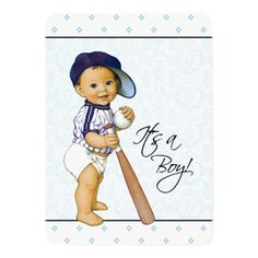 Little Baseball Player A Baby Boomer From The 50s Baby