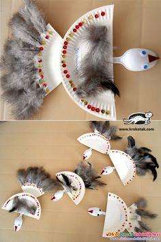 kağıt tabak ile kuş yapalım
