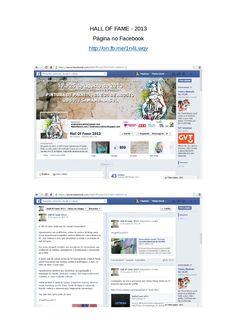 HALL OF FAME - 2013 Página no Facebook http://on.fb.me/1n4Lwqv Criação de conteúdo e mobilização como uma das administradoras da página no Facebook, em 2013.
