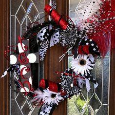 Texas Tech wreath