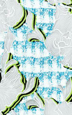 Volt Embroidered Tweed Dress by Peter Pilotto - Moda Operandi Textile Texture, Textile Fabrics, Fabric Textures, Textile Patterns, Textile Prints, Textile Art, Print Patterns, Sewing Patterns, Couture Embroidery