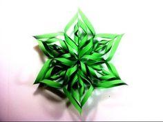 Adornos navideños DIY con forma de estrella de papel