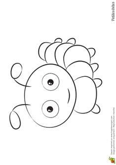 Camille la Chenille - Coloriage petites betes la chenille Insect Coloring Pages, Colouring Pages, Adult Coloring Pages, Coloring Sheets, Coloring Books, Small Drawings, Cartoon Drawings, Easy Drawings, Animal Drawings