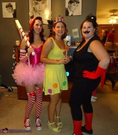 Candyland! Mr. Mint, Princess Lolly and Lord Licorice - Group Halloween Costume Idea