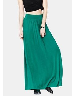 Love LabelJersey High Waisted Maxi Skirt from Picsity.com
