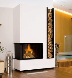 Lareiras e Fogões> Galeria> Baufeuer Brandherm GmbH - Kamin - Home Fireplace, Fireplace Remodel, Modern Fireplace, Living Room With Fireplace, Fireplace Design, Rock Fireplaces, Home Interior Design, Living Room Designs, Furniture Design
