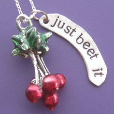Just Beet It Necklace by sudlow on Etsy, $45.00