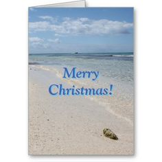 Isla Saona Caribbean Beach Merry Christmas! Cards: greeting card, note card, christmas card, merry christmas, seasons greetings, holiday greeting card, winter