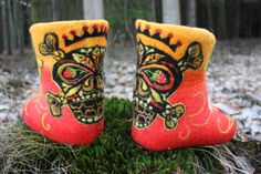 Felted Low shoes  Rock it Made to order by IrinaU on Etsy, $270.00