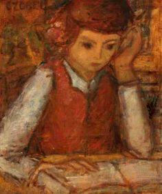 Béla Czóbel, Olvasó lány