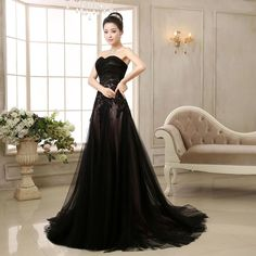 New Black Quinceanera Dress Formal Prom Party Pageant Ball Dresses Bridal Gowns