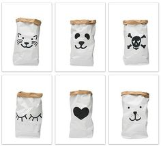 roomobaby | 12 amazing storage paper bags by Tellkiddo for under 20€