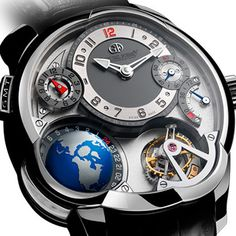 Greubel Forsey - Invention GMT - There is a lot going on with this timepiece, but I would still rock it.