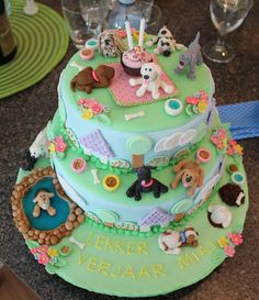 Puppy Party Cake
