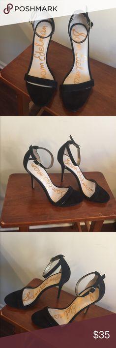 b295ab0add74ff Sam Edelman Eleanor Black Suede Heels EUC Excellent used condition! Sam  Edelman Shoes Heels