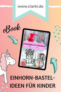 Eigenwerbung   Alle Infos zu meinem tollen Einhorn Bastelbuch findest auf meinem Blog. #clarki #clarkidiy #clarkibasteln #bastelnmitkindern #hund Blog, Craft Instructions For Kids, Self Promotion, Unicorn Crafts, Creative Ideas, Dog