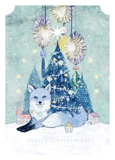 Christmas Illustration, Art And Illustration, Fox Art, Fairy Tales, The Creator, Beast, Diy And Crafts, Merry Christmas, Kids Rugs