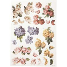 Free Decoupage Sheets | 3D Decoupage Tags, 21x30 cm, roses, 1 sheet » Buy Low Cost Products ...