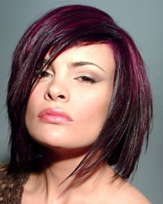 so what about that red/eggplant color, but dyed like an ombre dye job? i think it'd be tight.