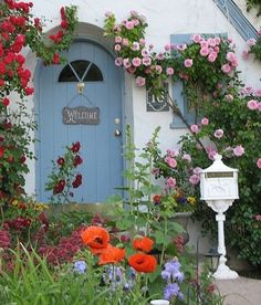 Cottage door and  garden!