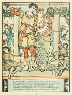 Walter Crane, illustration to The Sleeping Beauty, New York, 1911.  Via archive.org.