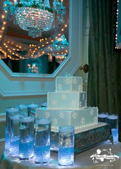 This website has some great ideas that can be used for all kinds of events from lighting to centrepieces.