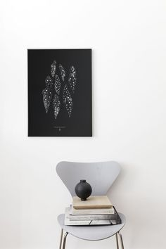 Living Room : 'Begonia Maculata' print by Coco Lapine