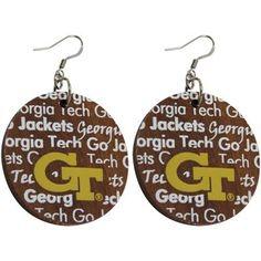#GaTech earrings