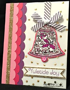 "Welcome to October's Stamp of the Month Blog Hop! This month, we are featuring the stamp set ""Yuletide Joy"" - a set of 7 stamps. This..."