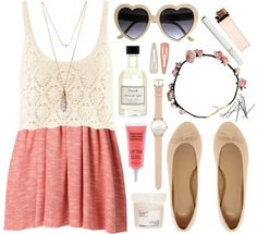 Sweet, simple, cute, flirty, girly, fun, and so glam. I LOVE this outfit <3