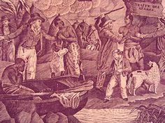 Toile de Jouy cutain c. 1775-1797