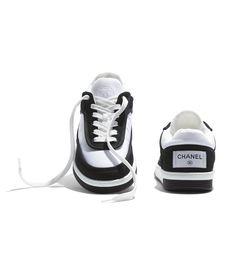 Boutique Haute Couture, Haute Couture Fashion, Black And White Sneakers, Black White, Tennis, Mode Chanel, Chanel Store, White Springs, Chanel News
