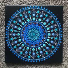 Beautiful 12x12 Dot Mandala Acrylic Painting
