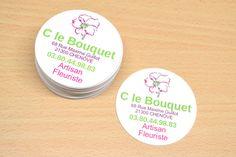Carte de visite ronde belle et simple pour un artisan fleuriste Barware, Logo, Simple, Design, Cards, Logos, Environmental Print, Tumbler
