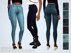 My Sims 4 Blog: Grandpa Flavs Drug Rugs for Males and High Waisted Skinny Jeans for Females by Chisami