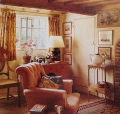 "I think we all have an archetype of the cozy grandma safe place.  Slightly faded, Nothing designed.  Comfortable and quintessentially perfectly ""home"" for the soul.  British cottage style"