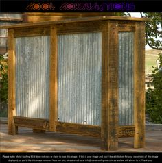 Cool Corrugations: Sydney Metal Roofing Decorator Ideas: Charming rustic iron dry bar or servery #MRNSW
