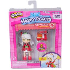 Shopkins Happy Places Puppy Parlor Doll with Petkins - Sara Sushi #MooseToys