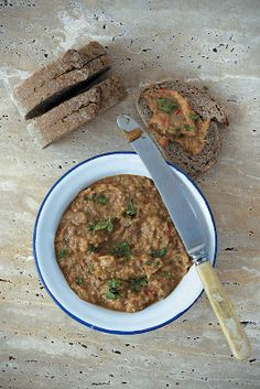 "Spicy ""melitzanosalata"" - Greek traditional aubergine dip"