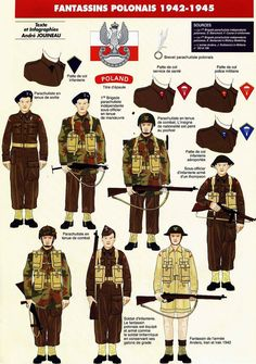 Польские пехотинцы (1942 - 45 годы)