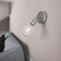 Kovová prispôsobiteľná lampa na stenu alebo strop, chrómová (3) Sconces, Wall Lights, Led, Lighting, Vintage, Design, Home Decor, Products, Italia