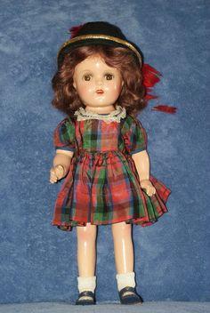 """Vintage 15"""" Madame Alexander Princess Elizabeth Composition Doll In Tagged Dress"""