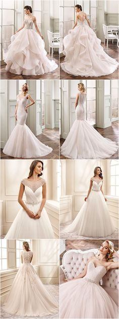 We fell in love with Eddy K wedding dresses 2016 collection